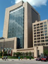 Minneapolis Federal Court (left) and Gallagher's Office Building (Right)