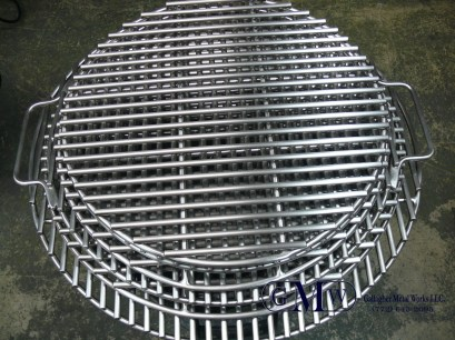 Finished stainless steel grill grates