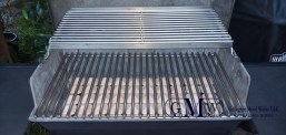 Stainless steel grill grates.
