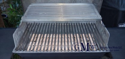 New stainless steel grill grate makes this old grill new again