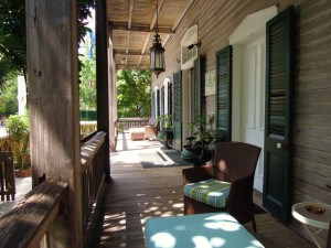 The Cypress House front porch