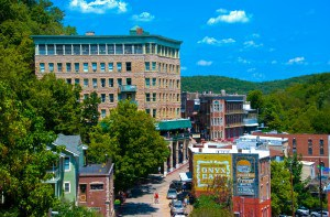 Downtown Eureka Springs. photo by Chip Ford