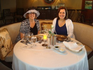 Phyllis and Debbie in the main dining room.