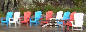 Muskoka chairs in Port Carling  photo by Arnold Berke