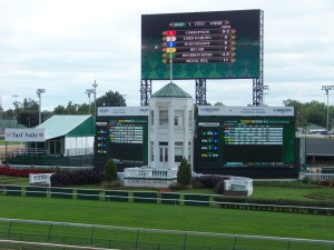 "The ""huge"" tote board at the track"