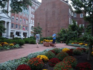 Garden areas near the Old City in Philadelphia.