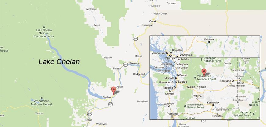 Lake Chelan Map