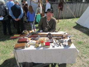 Talk with and learn the many skills required to survive everyday living back in the day such as care and maintenance of weapons from expert volunteers..