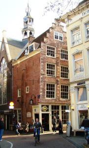 Typical Amsterdam street corner.