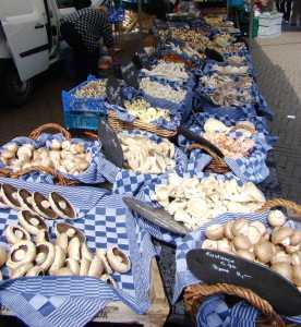 An array of street market treats an Amsterdam specialty.