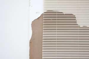 Artwork by Leyden Rodriguez-Casanova A Degraded Door and Blinds Miami.