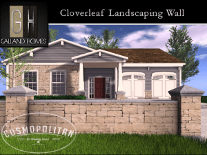 Cloverleaf Landscaping Wall Cosmo Package
