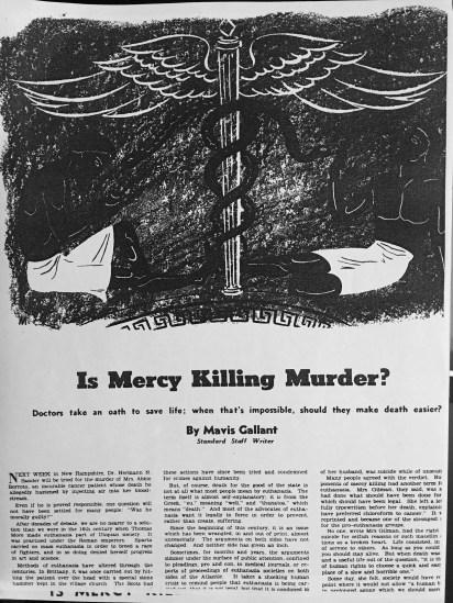 Is Mercy Killing Murder? 1