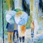 børn med paraply
