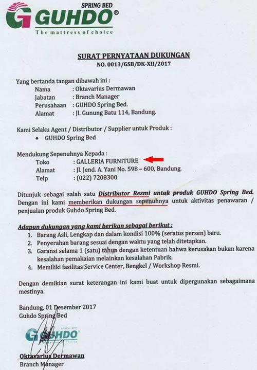 Alamat Showroom Guhdo Bandung