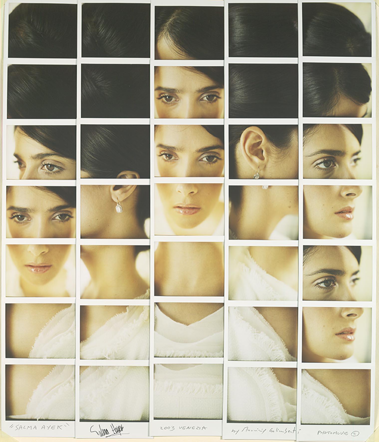 Maurizio Galimberti, HAYAK SALMA mosaico polaroid