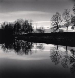 Dusk River Reflections, Villafranca Piemonte, Torino, Italy. 2019