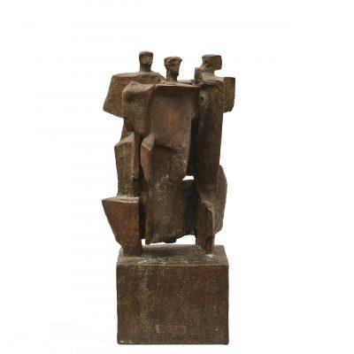Mario Negri, Little group, 1964, cm 29, bronze