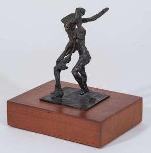 Umberto Milani, Due figure, 1965, bronzo