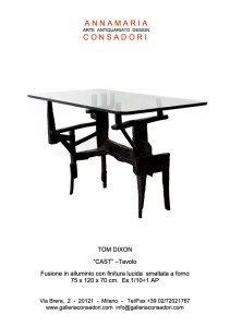 Design Limited Edition   Galleria Consadori 2011