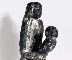 Giancarlo Sangregorio, Woman with child, 1962, cm 17x13x92h, Bronze, Unique piece, Authenticated by the artist