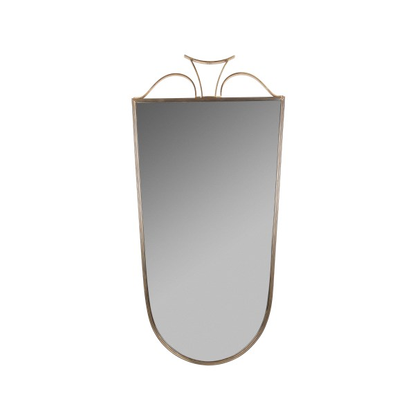 Mirror, '30s, cm 43x87h, mirror and brass