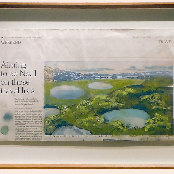 Marco Bay  - Disorientamento climatico - laghi - pastelli a olio su carta, cm 42x28  2020