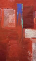 Senza titolo, Franco Guerzoni, 250×200, tecnica mista (olio e gesso)