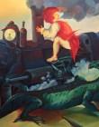 Vento meccanico, Giorgio Sebastiano Giusti, 250×170, olio su tela