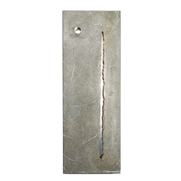 Deep Crack. Nature is Perfect series. 33 cm x 96 cm x 4 cm. Concrete, gold leaf, polished stainless steel. € 4 300