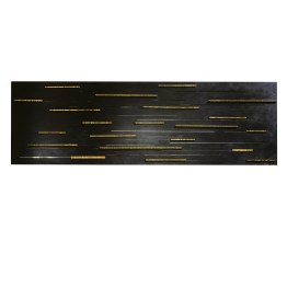 Wounds no 2, 2015. 196 cm x 60 cm x 5 cm. Etched and burnished iron, machined bronze bars. € 6 500