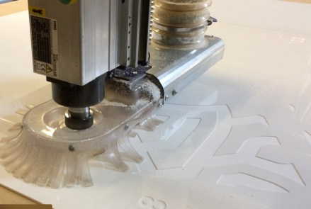 CNC Etching of Prototype Polygon Cluster