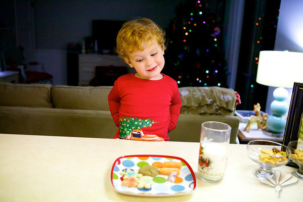 milk and cookies Christmas Eve