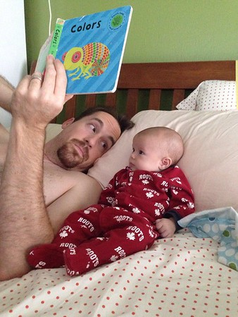 Luc and Daddy reading