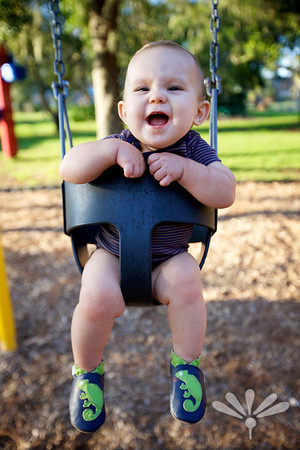 happy swinging