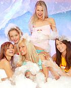 Alma, Regina, Mia, Tara, Jocelyn | foam lesbian party | clubseventeen.com pictures discount