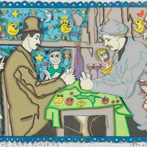 Rizzi - The Card Players 1890 & 1998 - 26x35