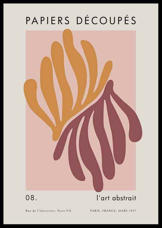 matisse cutout coral poster