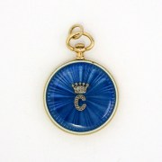 Diamond Enamel Pendant Watch, Cartier Paris