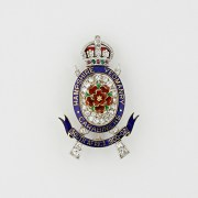 """HAMPSHIRE YEOMANRY CARBINIERS"" Enamel Brooch , Garrard & Co."