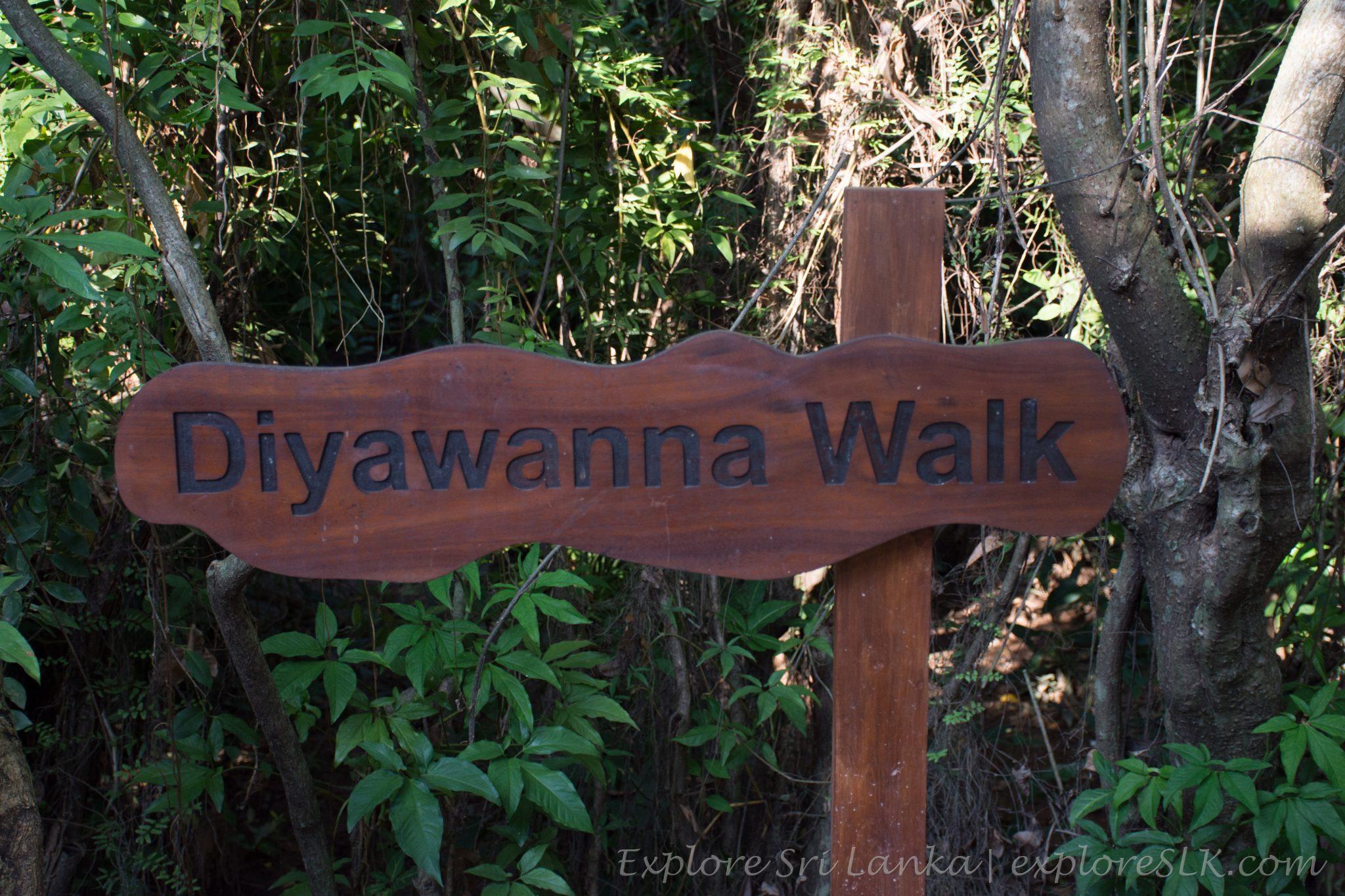 Diyawanna walk sign board