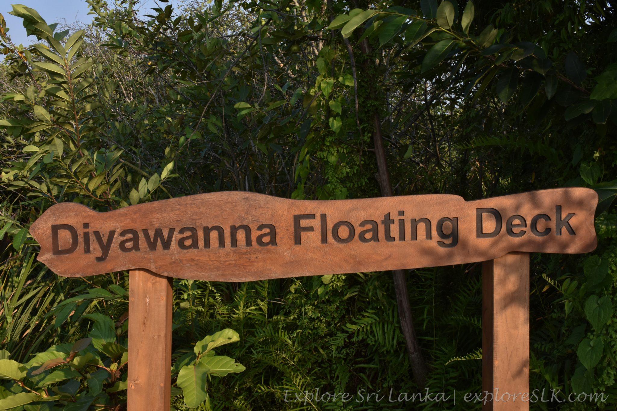 Diyawanna floating deck - sign board