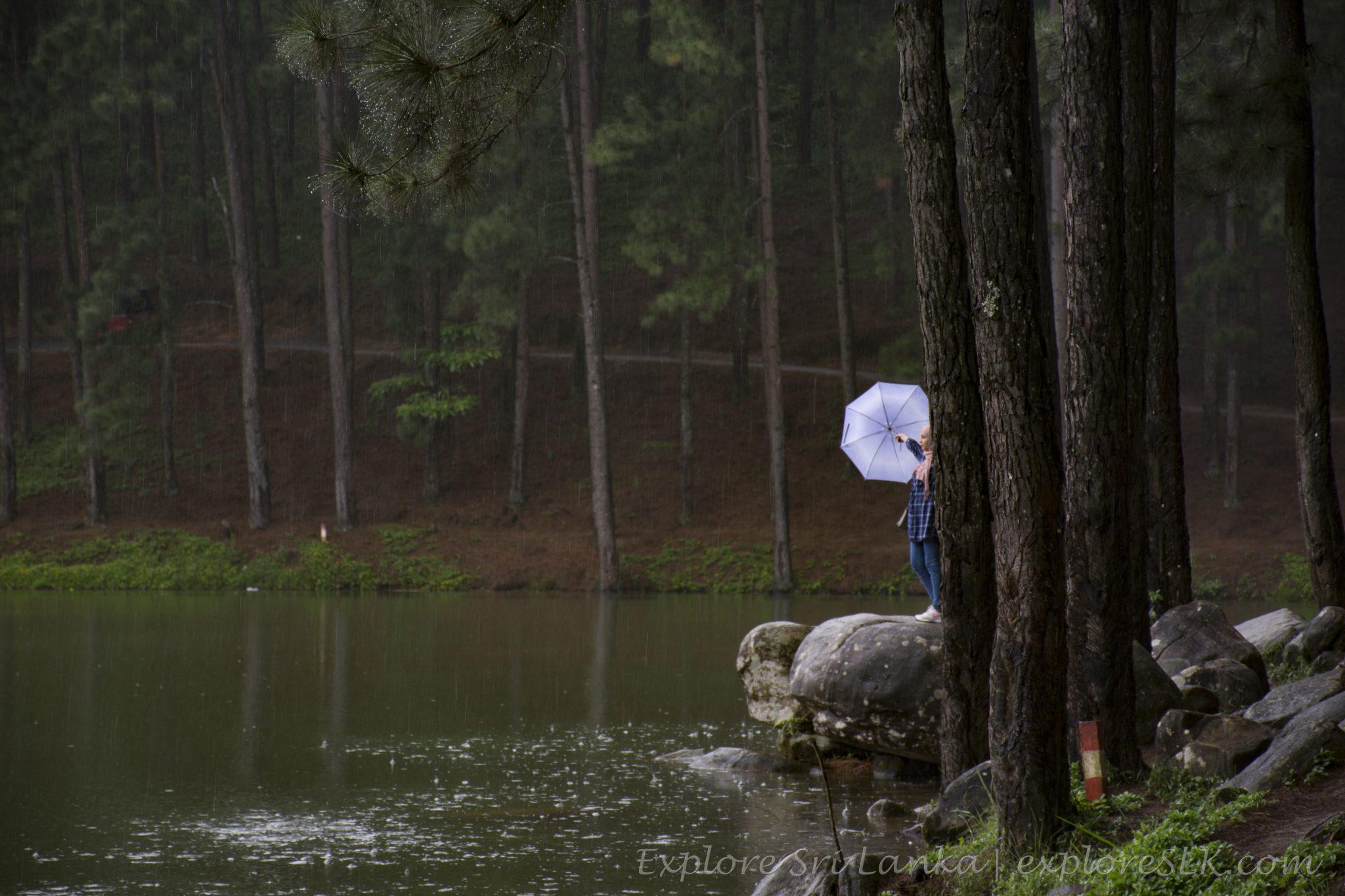 Girl Enjoying Rain