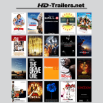 screenshot of hd-trailers.net