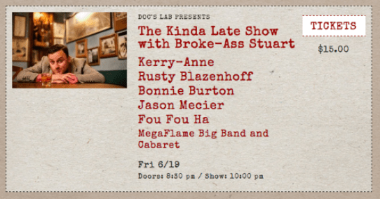 The Kinda Late Show with Broke-Ass Stuart