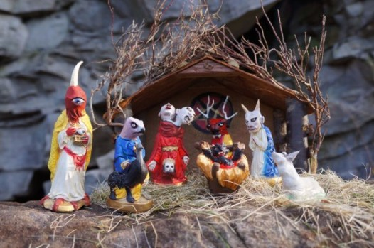Krampus Nativity Scene