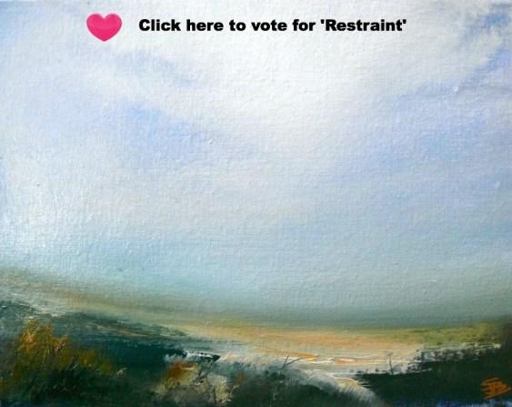 'Restraint' | Sarah Jane Brown | Oil on canvas board | 20x24cm