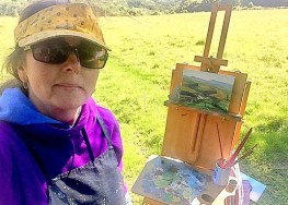 Sarah Jane Brown painting in Sussex