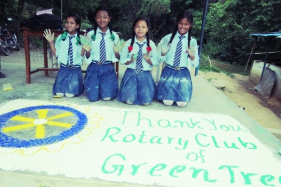 Rukmini Scholars Send Thanks to Greentree Rotary Club for Their Support