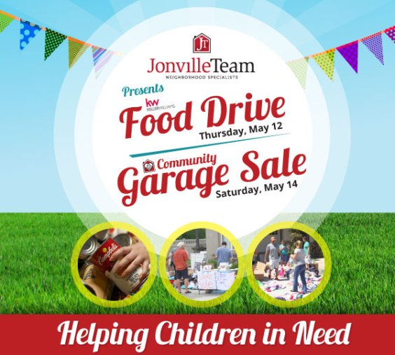 The Jonville Team - Food Drive and Garage Sale